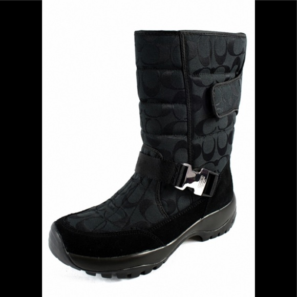 Coach Winter boots Sharron monogram C NWOB